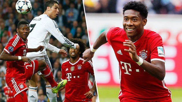 """Alaba: """"Unmenschlich, wie hoch Ronaldo springt"""" (Bild: AP)"""
