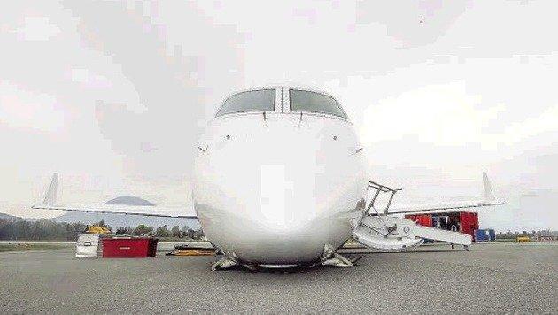 Die Gulfstream Aerospace mit ihren 22 Sitzen sollte nach Maine fliegen. Daraus wurde nichts. (Bild: Markus Tschepp)