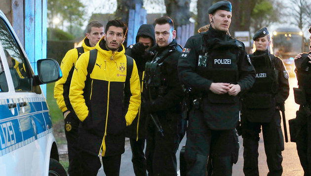 """Dortmund: Angriff auf Teambus """"Rache für Syrien"""" (Bild: APA/dpa/Ina Fassbender)"""