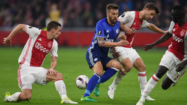 0:2 gegen Ajax! Schalke vor dem Europa-League-Aus (Bild: AFP)