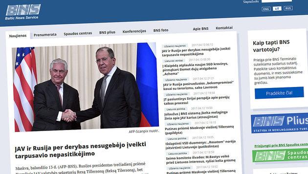 """""""Fake News""""-Attacke auf Nachrichtenagentur BNS (Bild: bns.lt)"""