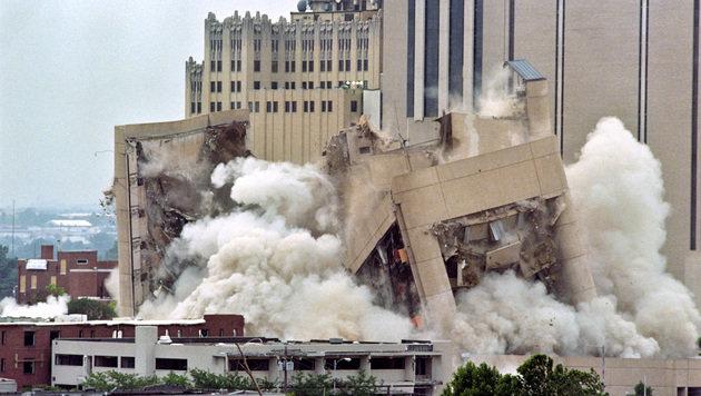 Im Jahr 1995 wurde ein Bombenanschlag auf ein Bundesgebäude in Oklahoma verübt. (Bild: AFP)