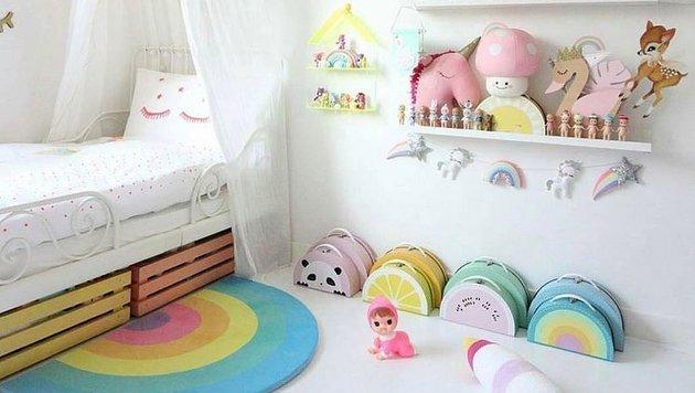 Tipps für geeignete Ordnungshelfer im Kinderzimmer (Bild: Instagram.com/miagirlxo)