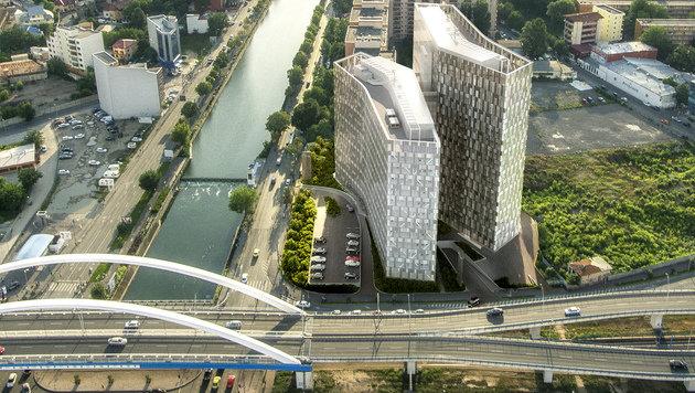 37.000 Quadratmeter Bürofläche: Die Wiener CA Immo entwickelte die Orhideea Towers in Bukarest. (Bild: CA Immo)