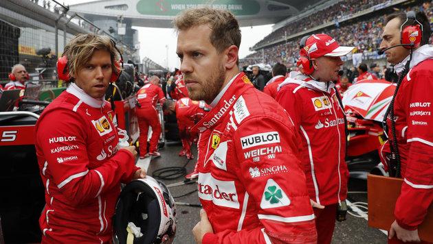 Kritik an Vettel: Start in China stand vor Abbruch (Bild: AP)