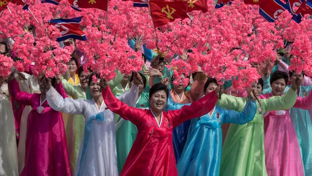 "Kim droht USA mit ""atomarem Donner"" (Bild: AFP)"