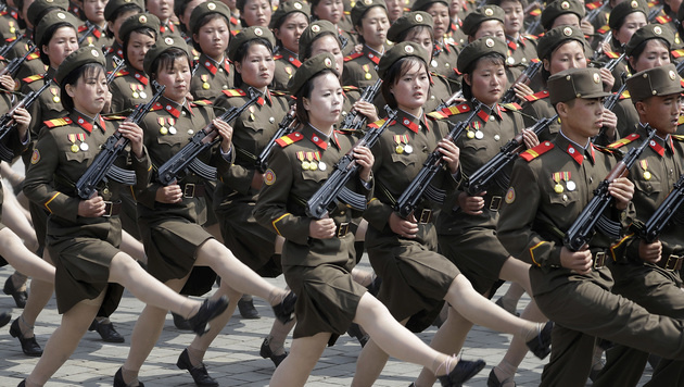 "Kim droht USA mit ""atomarem Donner"" (Bild: AP)"