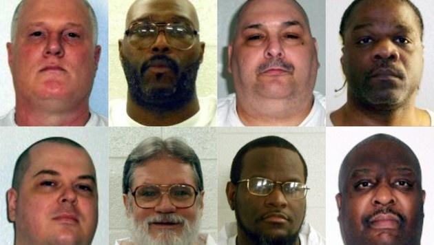 Diese acht Häftlinge sollten innerhalb weniger Tage in Arkansas hingerichtet werden. (Bild: AFP)