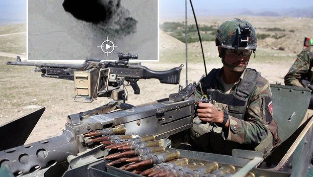 US-Megabombe tötete mehr IS-Kämpfer als angenommen (Bild: AFP, AP/Rahmat Gul)