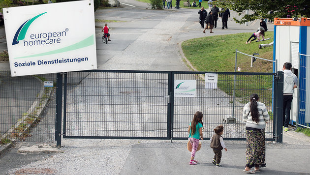 Flüchtlingsheim-Firma verfünffacht (!) Gewinn (Bild: APA/dpa, AFP/DPA/INA FASSBENDER)