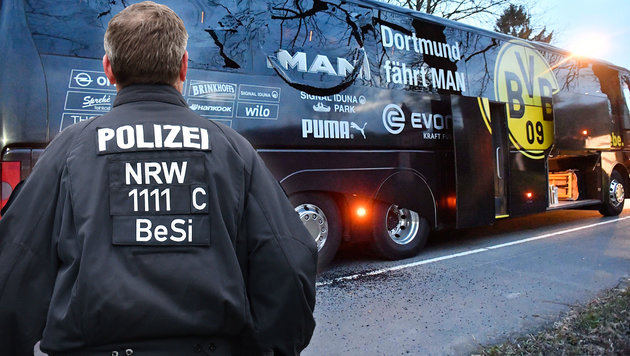 Mutmaßlicher Dortmund-Bus-Bomber bestreitet Tat! (Bild: AP/Martin Meissner, AP/Caroline Seidel)