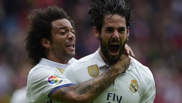 Marcelo und Isco bejubeln den Real-Sieg (Bild: AFP)