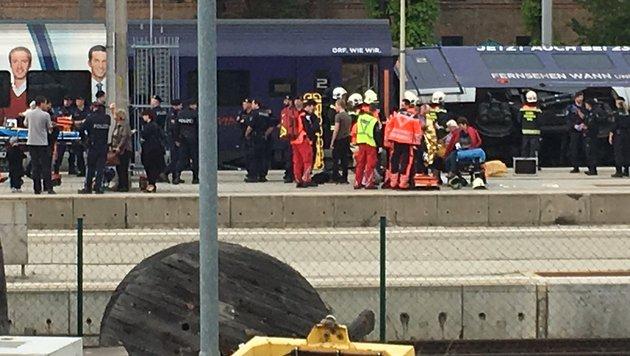 Bahnhof Meidling: Neun Verletzte bei Zugskollision (Bild: Thomas Lenger)