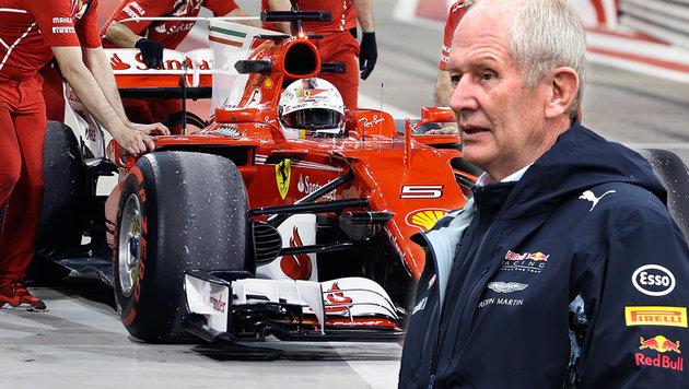 Illegaler Ferrari? Vorwürfe von Red Bull (Bild: GEPA, AP)