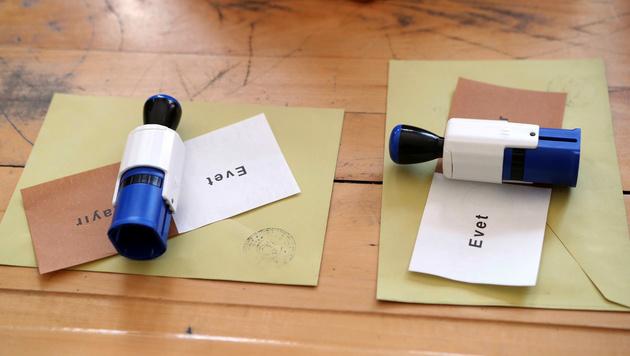 Die Stimmzettel (Bild: AFP)