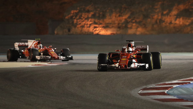 Ferrari-Triumph in Bahrain: Sebastian Vettel siegt (Bild: Copyright 2017 The Associated Press. All rights reserved.)