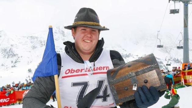 Nach nur 7 Minuten fündig geworden: Ferdinand Gschwendtner aus Pfarrwerfen ist neuer Rekordhalter. (Bild: Gerhard Schiel)