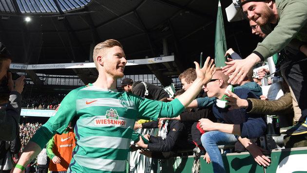 Derby-Held Kainz endlich in Bremen angekommen! (Bild: GEPA)
