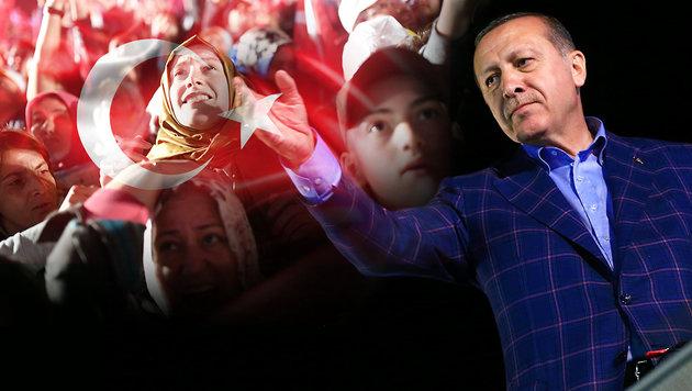 Erdogan setzt seinen Willen ganz knapp durch (Bild: AP, AFP, thinkstockphotos.de)