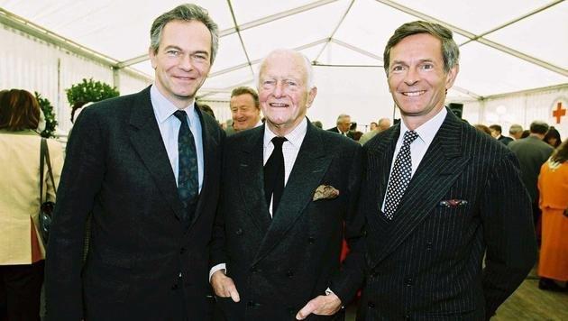Michael Treichl (rechts) mit Vater und Dynastie-Gründer Heinrich sowie Bruder Andreas (Bild: ortsgeschichte-leogang.at)