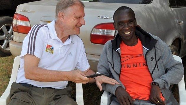 """Die """"Krone"""" zu Besuch beim Marathon-Olympiasieger (Bild: Jean-Pierre Durand (IAAF/Day in the Life))"""