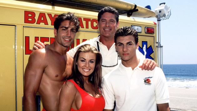 """Jeremy Jackson (ganz rechts) spielte in """"Baywatch"""" Hobie Buchannon. (Bild: Peter Clay/face to face)"""