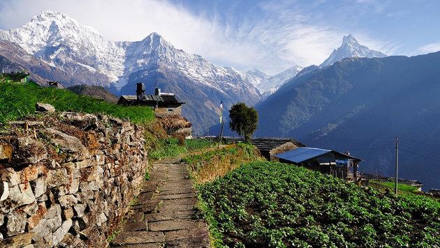 Blick auf die Annapurna (Himalaya) (Bild: thinkstockphotos.de)