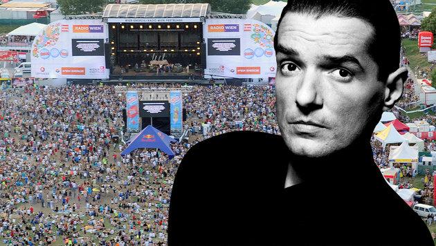 Falco-Mega-Konzert beim Wiener Donauinselfest! (Bild: dpa/Emi A2918, APA/HERBERT P. OCZERET)