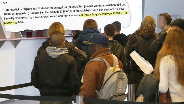 """Mit """"Sozialhilfe-Kombi"""" zu 3200 € Mindestsicherung (Bild: Zwefo, Kronen Zeitung)"""