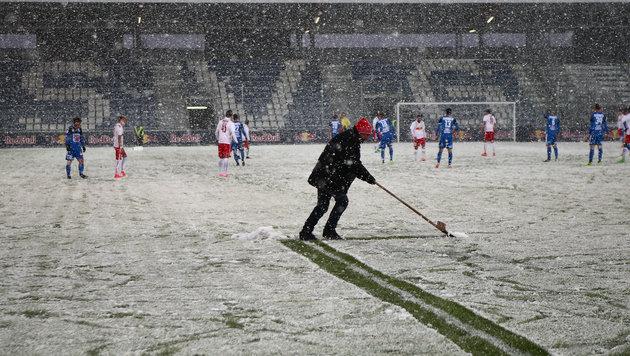 Schnee-Chaos! Liefering-Match abgebrochen (Bild: GEPA)