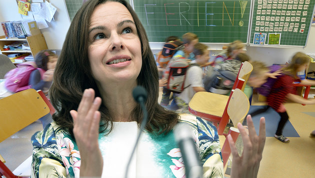 """Karmasin will """"Schüler vor Burn-out schützen"""" (Bild: APA/ROLAND SCHLAGER, APA/GEORG HOCHMUTH)"""