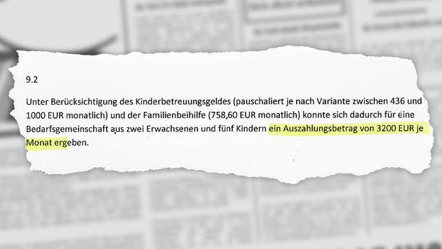 """Mit """"Sozialhilfe-Kombi"""" zu 3200 € Mindestsicherung (Bild: thinkstockphotos.de, Kronen Zeitung)"""