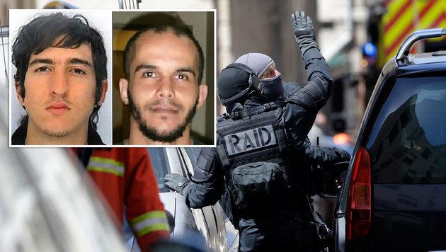 Anschlag in Marseille mitten im Wahlkampf geplant? Diese beiden Männer stehen unter Terrorverdacht. (Bild: AP, AFP)