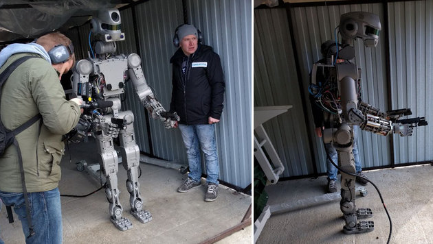 "FEDOR: Russen schicken Putins ""Terminator"" ins All (Bild: twitter.com/DRogozin)"