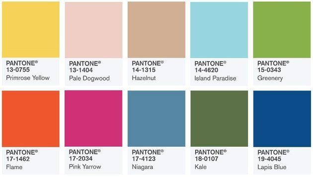 So dekorieren Sie in den Trendfarben des Frühlings (Bild: pantone.com)