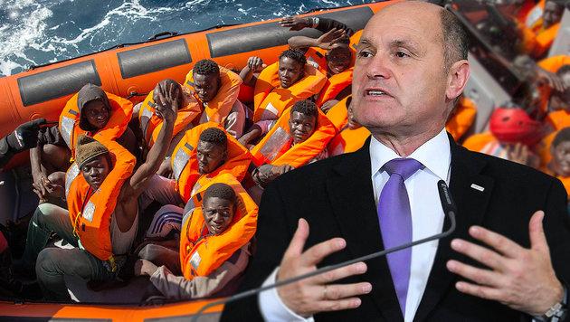 Sobotka für sofortige Sperre der Mittelmeerroute (Bild: APA/HELMUT FOHRINGER, AP)