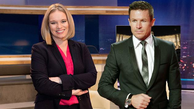 TV-Lady Milborn kontert Baumgartner mit Einladung (Bild: Puls 4/Lisa-Maria Trauer, EPA)
