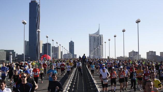 Vienna City Marathon: 18 Mal um die Welt (Bild: APA/GEORG HOCHMUTH)