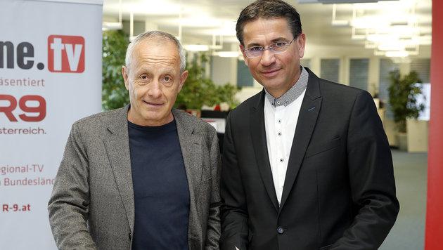 Peter Pilz im krone.at-Livetalk mit Moderator Gerhard Koller (Bild: Reinhard Holl)