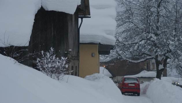 Unglaubliche 86 Zentimeter Schnee lagen Donnerstagfrüh in Lunz am See in Niederösterreich. (Bild: ZAMG/Hohenwarter)