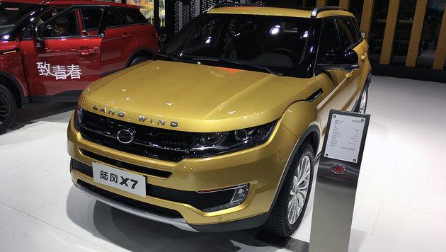 Land Wind hat den Range Rover Evoque nachgebaut. (Bild: Michael Gebhardt/SP-X)