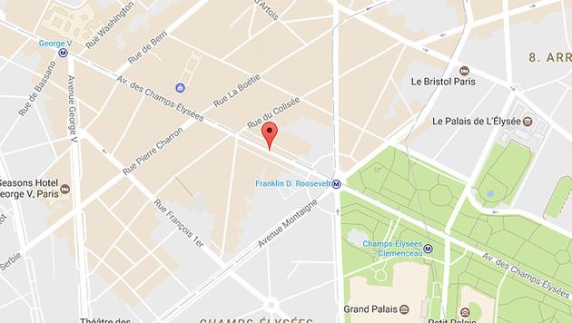 Die Avenue des Champs-Elysées, wo sich der Anschlag ereignete (Bild: Google Maps)