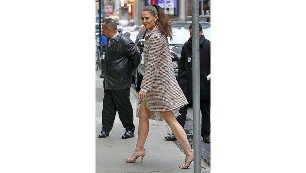 High-Heels-Fan Katie Holmes sorgte für Aufregung, als Tochter Suri Schuhe mit Absatz erlaubte. (Bild: Viennareport)