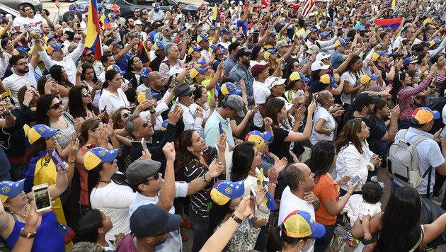 Venezuela: Drei Tote bei Protesten gegen Regierung (Bild: AFP)