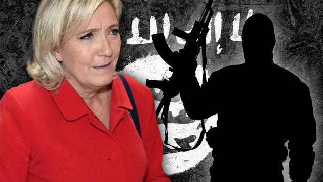 """Le Pen: """"Alle überwachten Ausländer abschieben"""" (Bild: AFP/ALAIN JOCARD, thinkstockphotos.de)"""