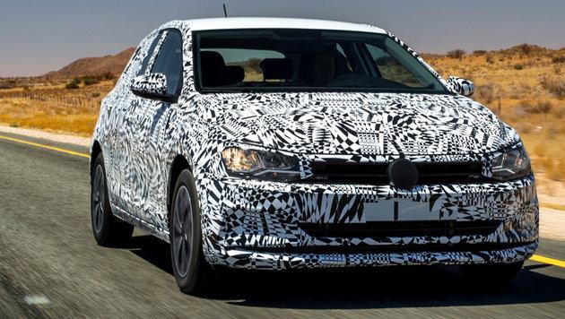 Erstkontakt: So wird der brandneue VW Polo (Bild: VW)