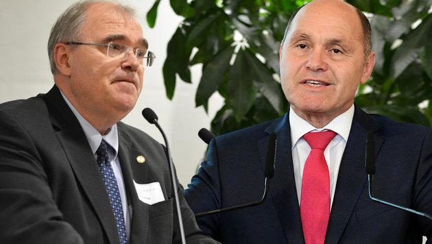 Justizminister Wolfgang Brandstetter (li.) und Innenminister Wolfgang Sobotka (Bild: APA/Mirjana Miljanovic, APA/HELMUT FOHRINGER)