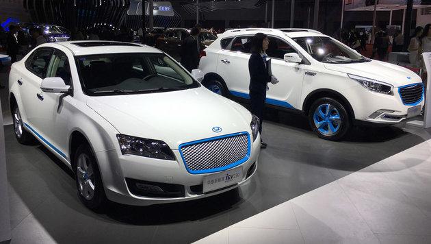 Die GAC-Elektroautos erinnern irgendwie an Audi-SUV. (Bild: Michael Gebhardt/SP-X)