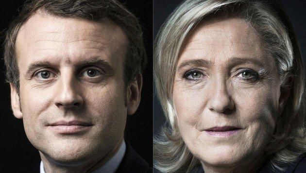 Frankreich wählt: Emmanuel Macron oder Marine Le Pen (Bild: AFP)