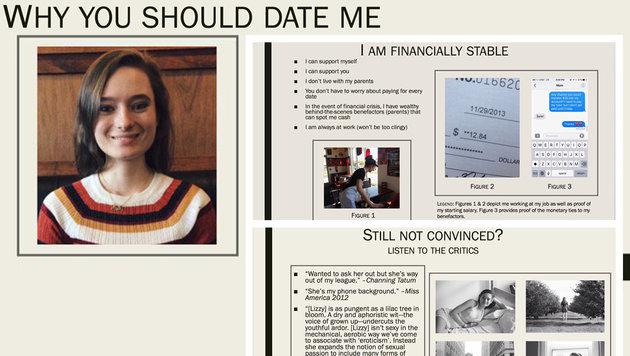 Studentin bat per Powerpoint-Präsentation um Date (Bild: twitter.com/LizzyFenton)
